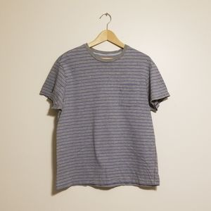 Gap blue and grey striped t-shirt